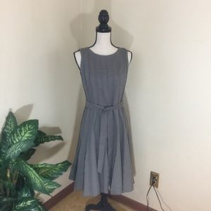 Calvin Klein's Pleated, Fit And Flare Dress
